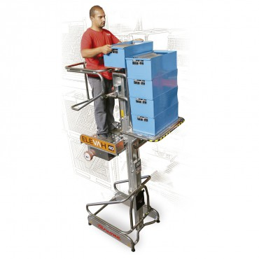ELEVAH 40 MOVE PICKING | Plataforma elevadora autopropulsada de 4 metros de altura y plano picking manual.